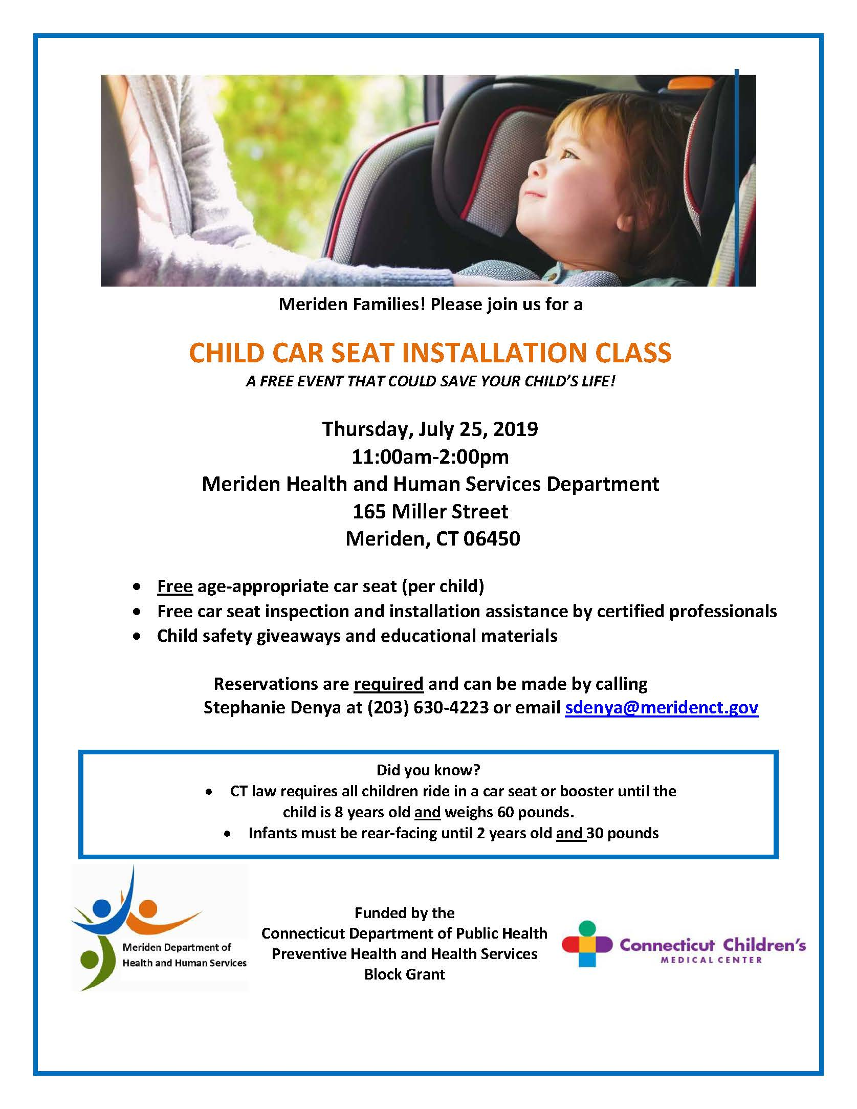 Child Car Seat Installation Class